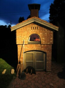 Pre-Fab Oven at Night