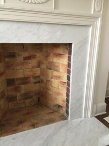Antique Firebrick installation